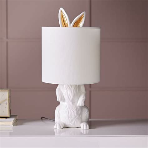 ceramic nature rabbit table lamp west elm