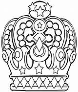 Crown Coloring Pages Crown1 sketch template