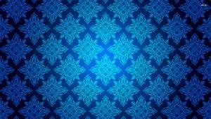 Blue vintage pattern wallpaper - Vector wallpapers - #864