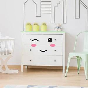 Commode Scandinave Ikea : stickers meubles pour b b yeux bouche pommettes pour relooker commode ~ Teatrodelosmanantiales.com Idées de Décoration