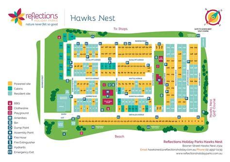 hawks nest caravan holiday park nsw reflections