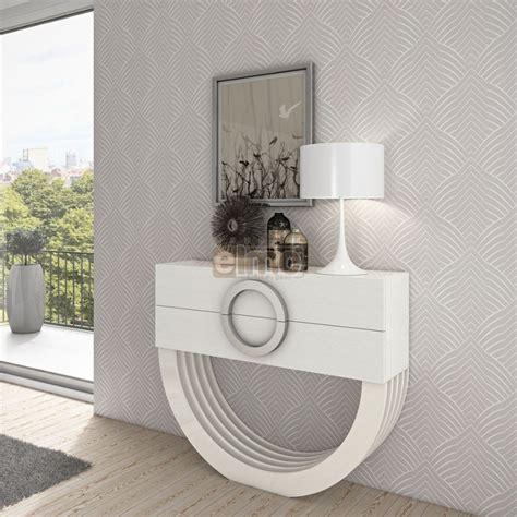 meuble haut cuisine laqué console design moderne laque ou bois 2 tiroirs pied demi