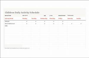 amazing kids timetable template component resume ideas With activity timetable template
