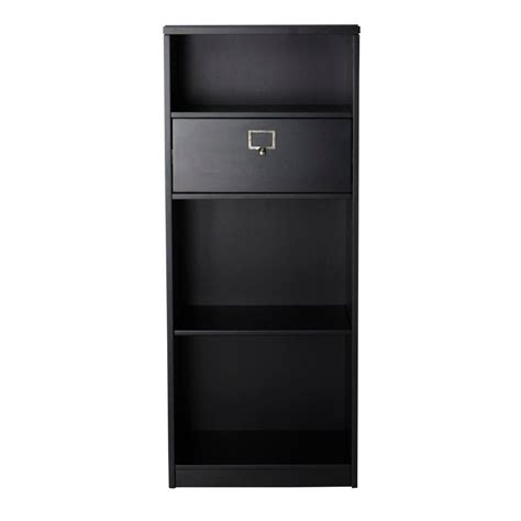 cabinet drawers kitchen safavieh niko java open bookcase amh6501a the home depot 6501