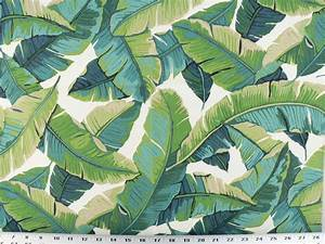 Drapery Upholstery Fabric Indoor/Outdoor Tropical Leaves ...