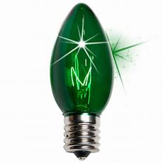 C9 Christmas Light Bulb  C9 Twinkle Green Christmas Light