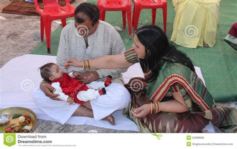 Hindu Tradition For Babys First Solid Food By Her