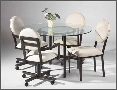 Chromcraft Furniture Kitchen Set With Wheels by Kitchen Chairs With Casters Canada Chairs Home Design