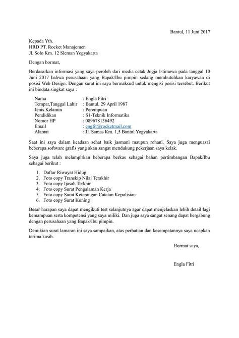Lop Surat Lamaran Kerja Yang Benar by Contoh Surat Lamaran Kerja Yang Baik Dan Benar Doc