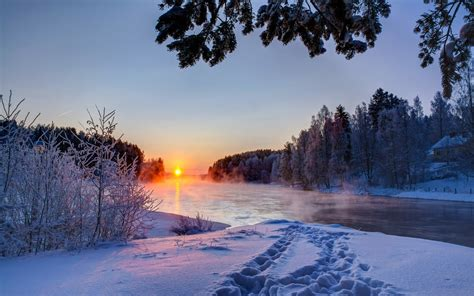 nature landscape winter wallpapers hd desktop