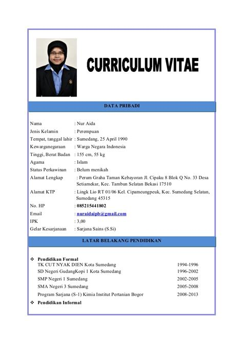 curriculum vitae sle pdf contoh resume jurnal yang baik gontoh