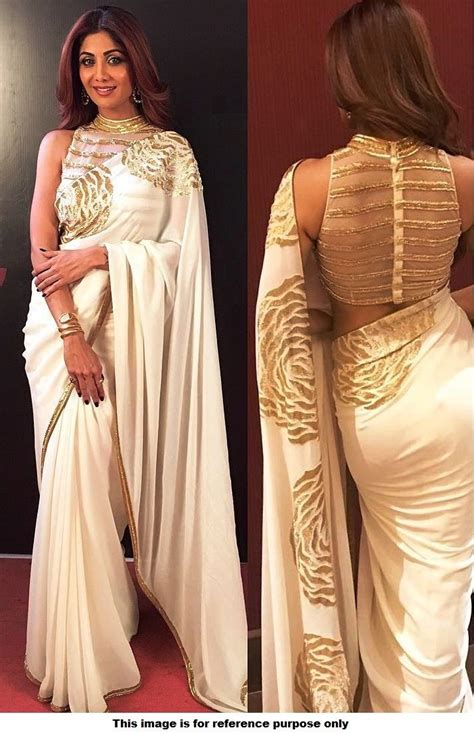 And Gold Sari buy style shilpa shetty white and gold saree in