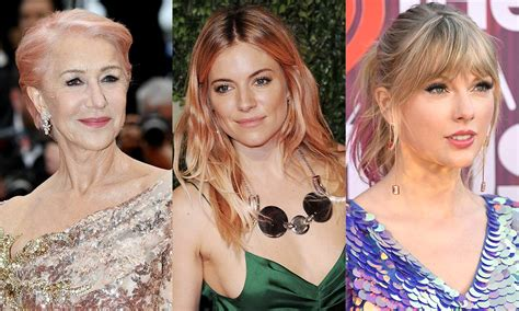 15 Celebrities With Pink Hair From Helen Mirren To Julia