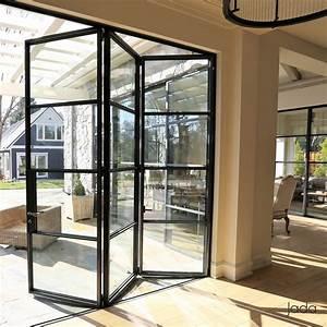 thermally broken steel folding doors windows jada With bifold doors with windows