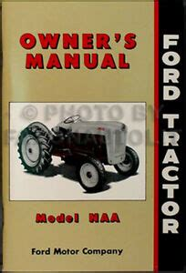 ford naa tractor owners manual