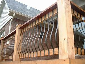 Update Your Deck Railing With Side Mount Iron Balusters