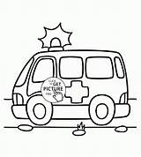 Ambulance Coloring Pages Transportation Printables Wuppsy Werewolf Halloween Truck Tow Tractor Tags Ausmalbilder Feuerwehr Fire Toddlers sketch template