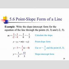 51 Equations Of Lines Equations Of The Form Ax + By = C Are Called Linear Equations In Two