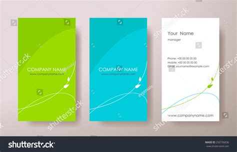 set vertical abstract business cards plant stock vector