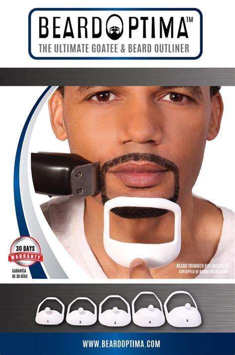 goatee template beardoptima goatee outliner beard shaper hair tool template 5 szs ebay