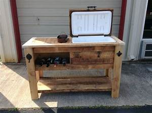 Rustic Cooler Table ~ Rustic WoodWorx