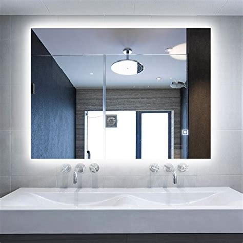 Back Lit Bathroom Mirrors by Best Wall Mounted Backlit Led Bathroom Mirrors