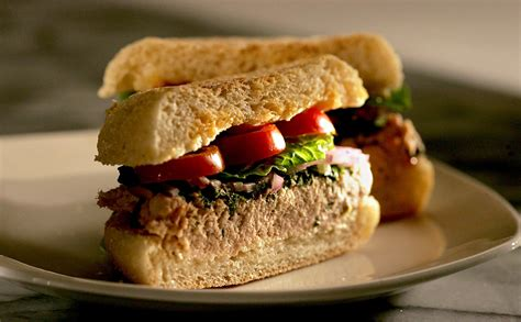 recipe italian tuna  shiso sandwich california cookbook