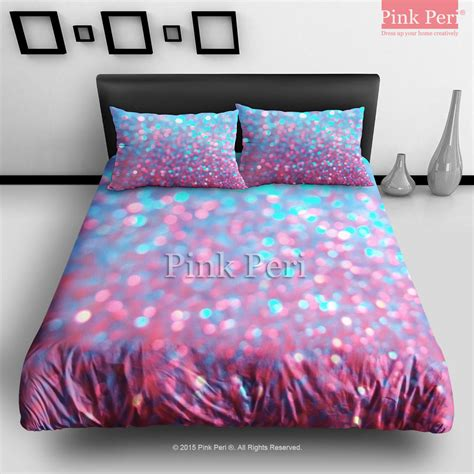 pink and blue sparkle glitter bedding from pink peri