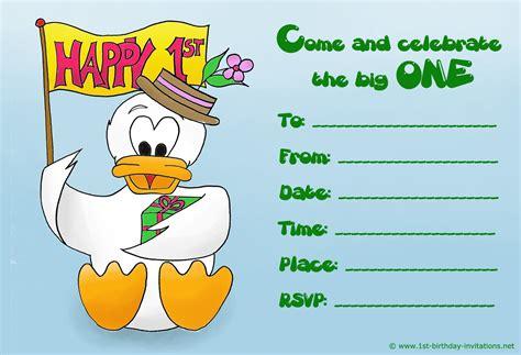 happy 1st birthday card template birthday invitation card template free birthday