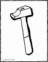 Hammer Colouring Kiddicolour Drawing Receiver Mail 01v sketch template