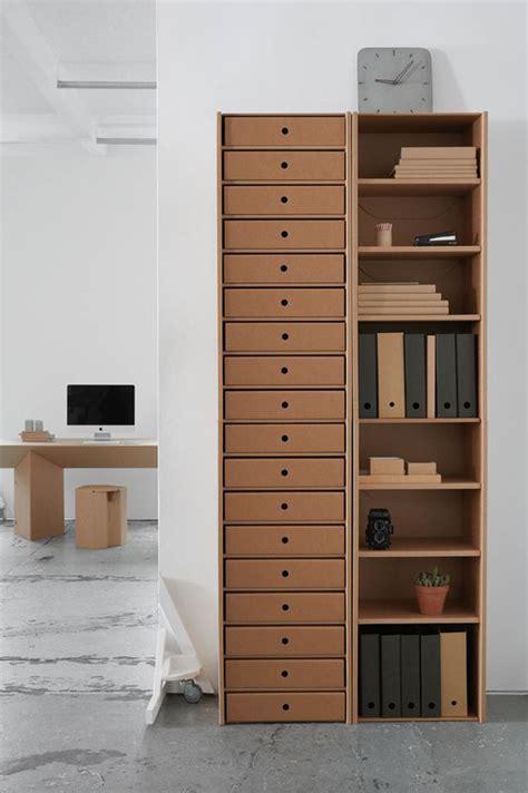 modern diy cardboard office cabinet homemydesign