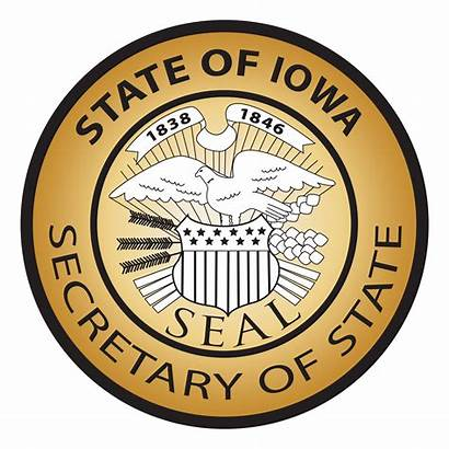 Iowa State Secretary Seal Official Poll Restored