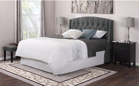 gray tufted bed building grey tufted headboard for bed also padded modern