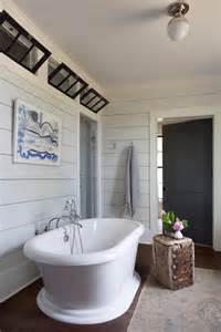 Shiplap Wall Modern Farmhouse Bathroom