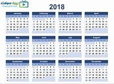 يناير 2018 التقويم 1 2019 2018 Calendar Printable with