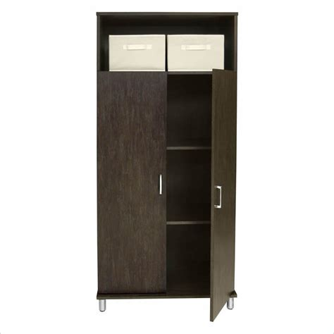 Ameriwood Storage Cabinet Assembly by Ameriwood W Two Fabric Bins Black Storage Cabinet Ebay