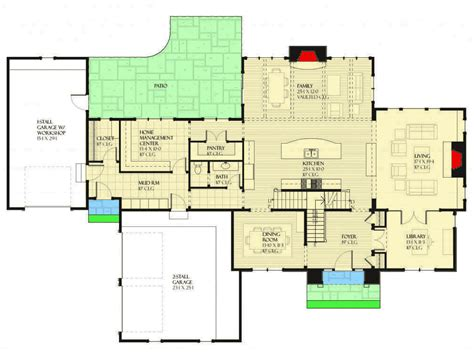 Floor Plans With Hearth Room by Four Bed Country Home Plan With Hearth Room