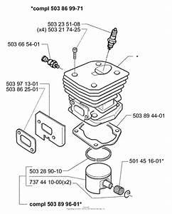 Husqvarna 350  1998 Cylinder