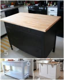 roundup 12 diy kitchen tables islands and cupboards you can make yourself curbly diy - Diy Kitchen Island Table