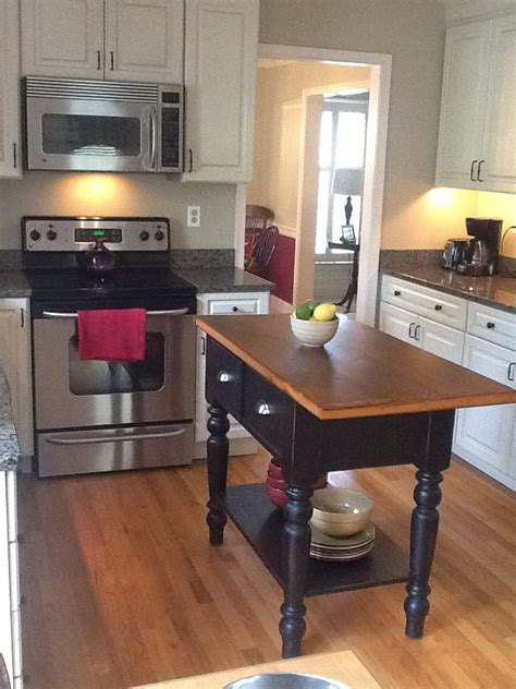 small kitchen island    sided overhang furniture