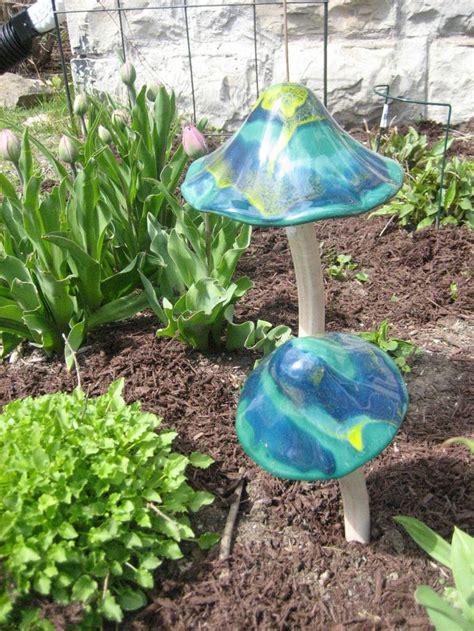 27 Best Images About Glass Garden Mushrooms On Pinterest