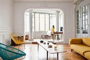 appartement ancien design contemporain frenchy fancy With salle de bain design avec tableau art contemporain design décoration
