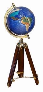Globe Terrestre Bois : globe terrestre de bureau 22 cm bleu cambridge tr pied ~ Teatrodelosmanantiales.com Idées de Décoration