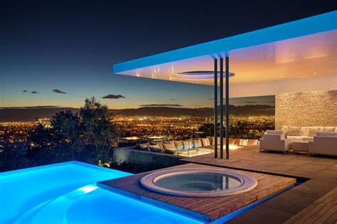 concrete house  designed  amazing views