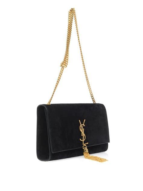 saint laurent cassandre tassel medium shoulder bag  black lyst