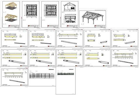 Carport Plan by Doppelcarport Holz Mit Satteldach Bauanleitung Bauplan Holz