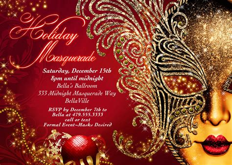 holiday masquerade christmas masquerade masquerade party