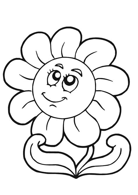 printable sunflower coloring pages sunflower coloring pictures  preschoolers kids