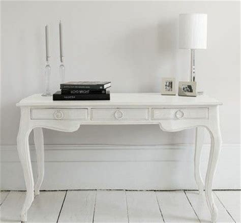 white writing desk with drawers elegant writing desk with three useful drawers in a matte