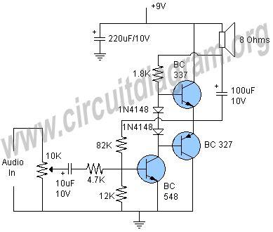 Circuit Diagram Of Simple Audio Amplifier